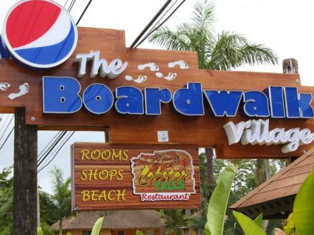 Negril Boardwalk entrance